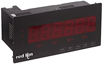 "Red Lion LPAX Red Large PAX LED Segment Display for Digital MPAX Modules, 6 Digits, 1.5"" Character Size, 85-250 VAC, 50/60 Hz"