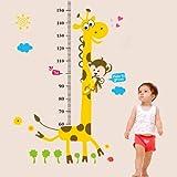 ウォールステッカー 剥がしてそのまま貼 壁に貼るウォールステッカー身長計 子供の成長が見えるウォールステッカー 測定範囲:60~ 180cm   並行輸入品