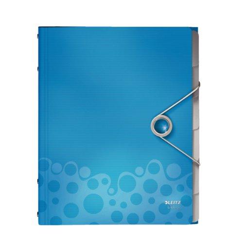 Leitz - Carpeta archivadora con separadores A4 con elástico color azul