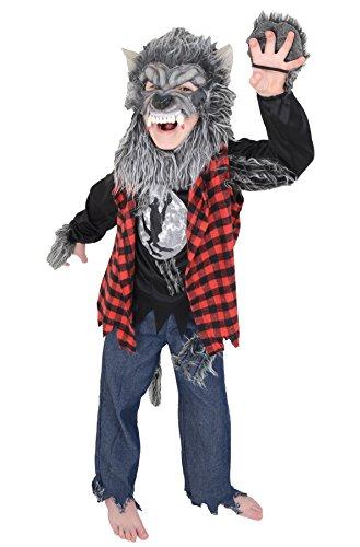 Children's Kids Werewolf Wolfman Halloween Costume (Age 6-7 years) (Kids Werewolf Costumes)