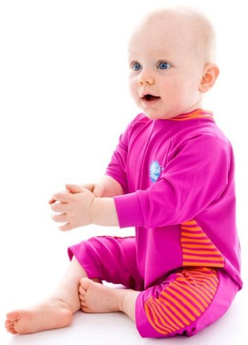 Splash About Uv All-In-One Suit (Sun Protection), Pink/Mango, 0-3 Months front-858711