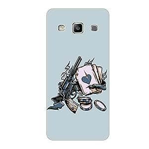 Vibhar printed case back cover for Samsung On5 GunPooker