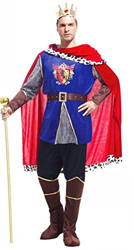Treasure-box Mens Ancient King Costume Halloween with Cloak
