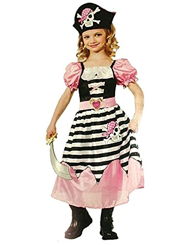 Rubies Halloween Little Girls Child Pink Pirate Princess Small 3-4 Year Old