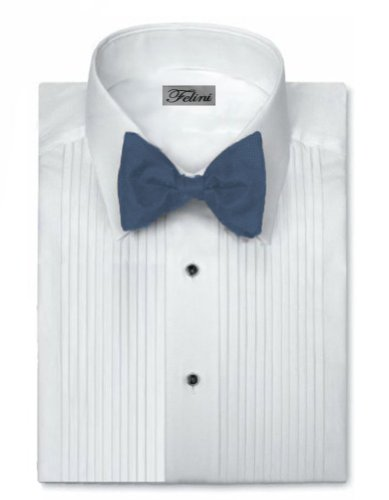 Felini Mens Tuxedo Shirt Laydown Collar 1/4 Inch Pleat (medium) 15/15.5 34 X 35)