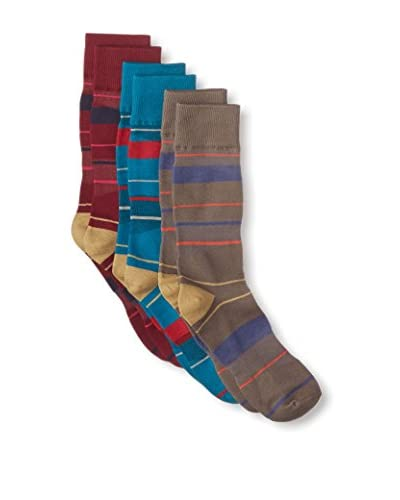 Florsheim by Duckie Brown Men's Striped Socks - 3 Pack