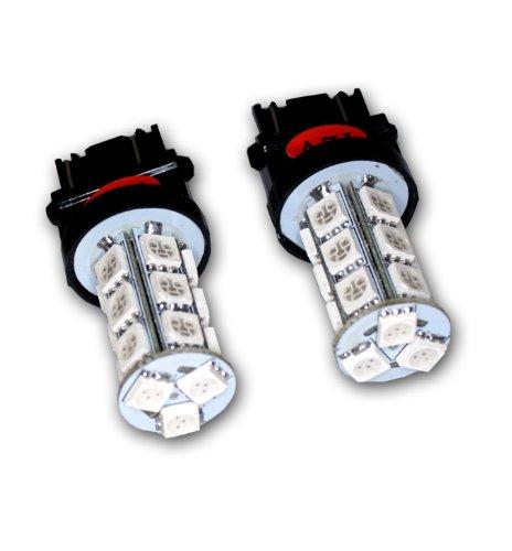 Tuningpros Ledrs-3157-Rs18 Rear Signal Led Light Bulbs 3157, 18 Smd Led Red 2-Pc Set