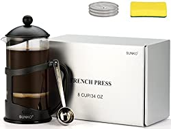 SUNKO French Press Espresso Cappuccino Coffee Maker from SUNKO