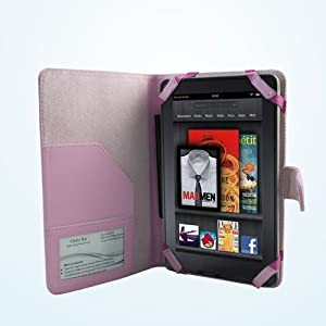 Klu by Curtis 7 Tablet PINK DuroMax Executive Folio Case Cover by Cush+Cases