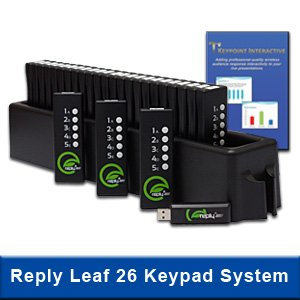 Keypoint Interactive Audience Response System With 26 Reply Leaf Keypads