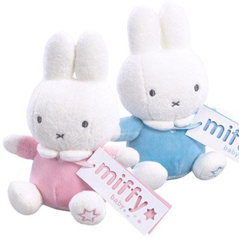 Miffy Beanie Rattle Pink Rainbow Designs MF52844P