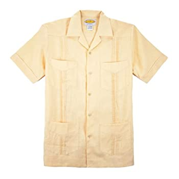 Boy's 4-pockets Pleated Guayabera