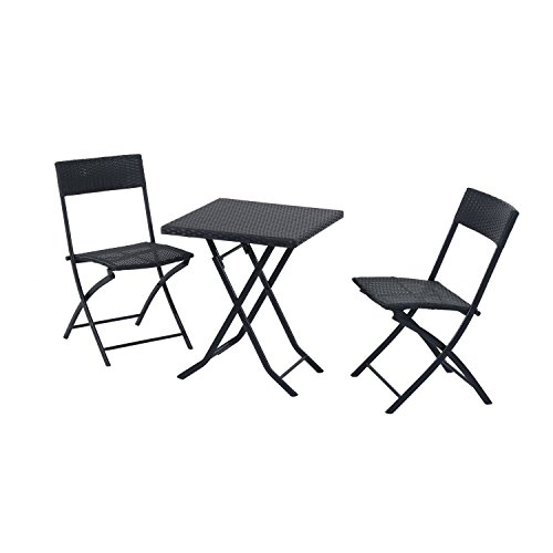 Outsunny-Gartenmbel-Polyrattan-Bistro-set-Balkonmbel-Garnitur-Sitzgruppe-3-teilig-schwarz