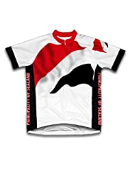 Principality Of Sealand Flag Short Sleeve Cycling Jersey for Women