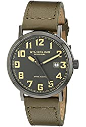 Stuhrling Original Men's 554.3355D54 Aviator Tuskegee Convair Classic Watch With Green Leather Strap