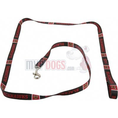 "Chicago Blackhawks NHL Dog Leash S: 6 foot, 5/8"" wide at Amazon.com"