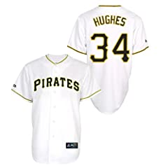 Jared Hughes Pittsburgh Pirates Home Ladies Replica Jersey by Majestic by Majestic