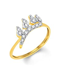 Sukkhi Stylish Gold And Rhodium Plated Cubic Zirconia Ring For Women (8013RCZc290)