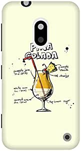 The Racoon Grip Cream Pina Colada hard plastic printed back case / cover for Nokia Lumia 620