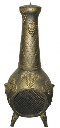 Deeco-Consumer-Products-European-Vineyard-Cast-Aluminum-Chiminea