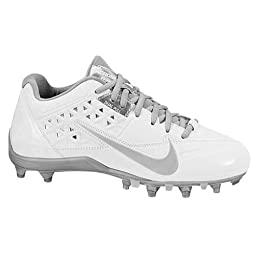 Nike Womens Speedlax 4 White/Metallic Silver 6.5 B - Medium
