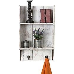Reclaimed wood bathroom shelf