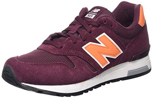 New Balance 565 Zapatillas de Running, Hombre, Multicolor (Burgundy/Orange), 45 EU