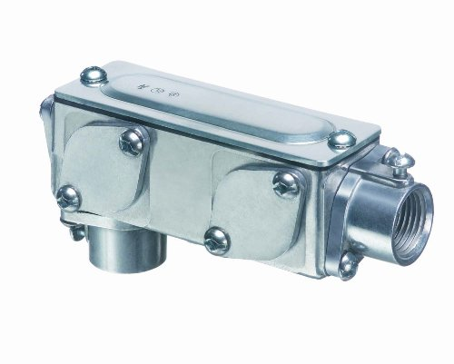 Arlington 932-1 AnyBODY Conduit Body 5-in-1 Combination LB, T, C, LR, LL, Metallic, 1 Inch