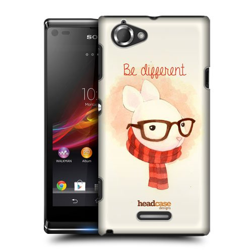 Head Case Designs Different Hipster Animals In Watercolour Protective Snap-On Hard Back Case Cover For Sony Xperia L C2105