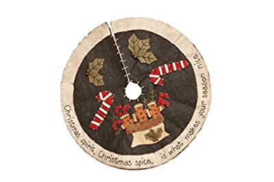 Your Hearts Delight Christmas Spirit Tree Skirt, 12-Inch