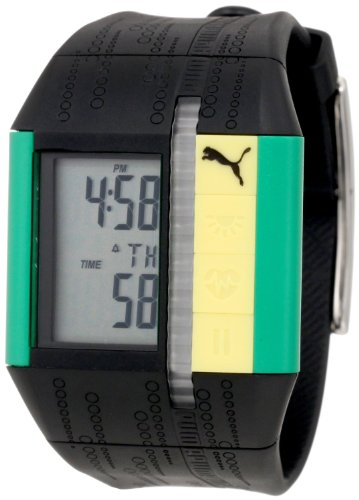 "Puma Men'S Pu910501010 ""Cardiac Ii"" Stainless Steel Fitness Watch With Black Polyurethane Band"