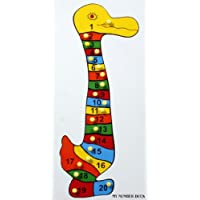 Little Genius Number Duck Shape Tray With Knob, Multi Color