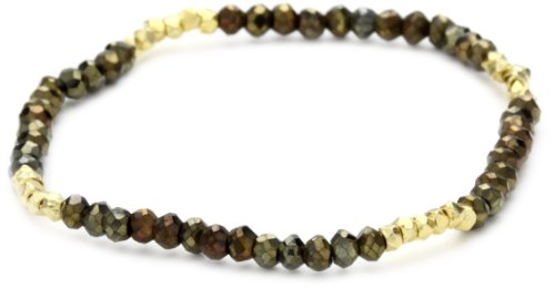 Mary Louise Pyrite Gold Nets Bracelet