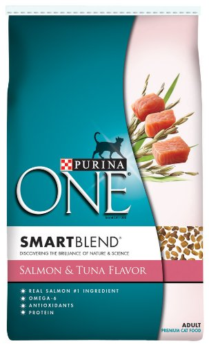 See Purina One Cat Smartblend Salmon and Tuna Cat Food, 16-Pound