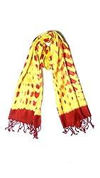 Anuze Fashions Tie Dye Yellow Leopard Design Stole
