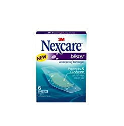 Nexcare BWB-06 Blister Waterproof Bandages, One Size, 6 Count,