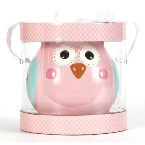 C.R. Gibson Ceramic Piggy Bank, Happi Baby Girl