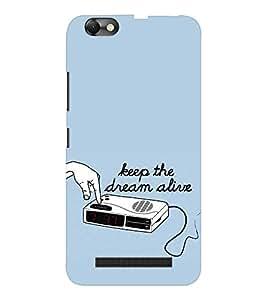 EPICCASE keep dream alive Mobile Back Case Cover For Lenovo A2020 (Designer Case)