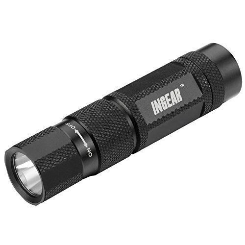 Ingear Powerful Mini Led Flashlight. A Small Light With A Big Beam. Equipped With A High-Powered Magnet. Useful In Many Situations. Superb For Camping, Emergency Kits, Survival, Work, Mining. Compact Cree Q3 95 Lumens Best Tactical Flashlight Will Last Fo