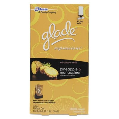 "Sc Johnson Glade Expressions"" Oil Diffuser Refill .67 Oz, Pineapple & Mangosteen"
