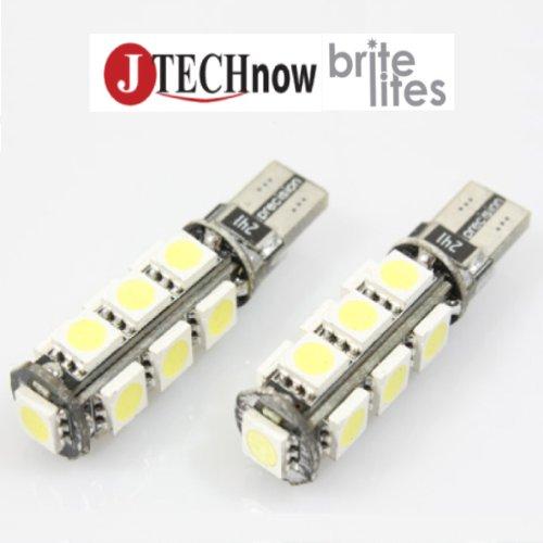 Jtech 2 X T10 T15 Canbus Error Free 906 912 921 13-Smd 5050 Led 2.9W 360-Degree 185 Lumen Xenon White Light Bulb