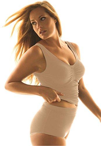 Secret Solutions Women's Plus Size Seamless Tank Nude,20/22