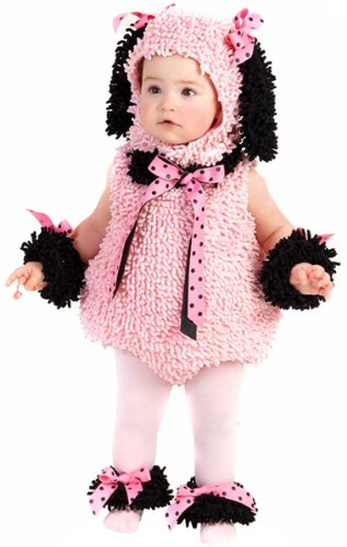 Pinkie Poodle Halloween Costume, Pink/Black, 18M/2T