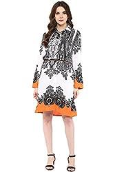 Akkriti by Pantaloons Women's Straight Dress ( 205000005637931, Black, X-Small)