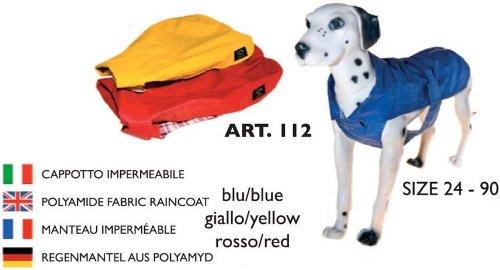 Fashion Dog Cappotto in tela cerata foderato cotone scozzese per cani colore giallo taglia 39