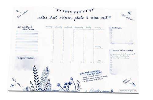 Schreibtischunterlage-A3-30-x-42-cm-aus-Papier-zum-Abreien-25-Blatt-Schreibunterlage-Abreiblock-im-Tusche-Aquarell-Stil