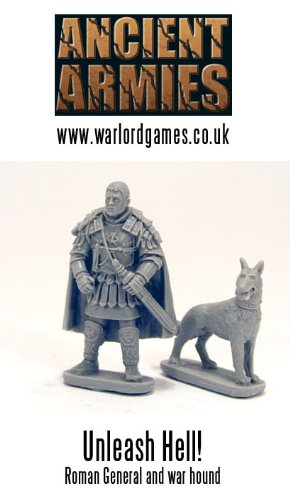 General & Dog Ancient Army Miniatures