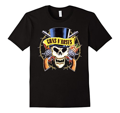 Men or Women Guns n Roses Skull T-shirt - 5 Colors - S to XXXL