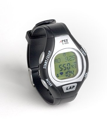 Cheap Apex E600 Calorie Counting 30-Lap Target Zone Heart Rate Monitor Watch (HRM-E600)
