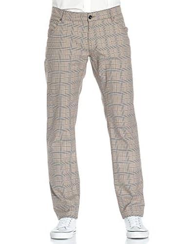 RICHMOND Pantalone [Nocciola/Celeste]
